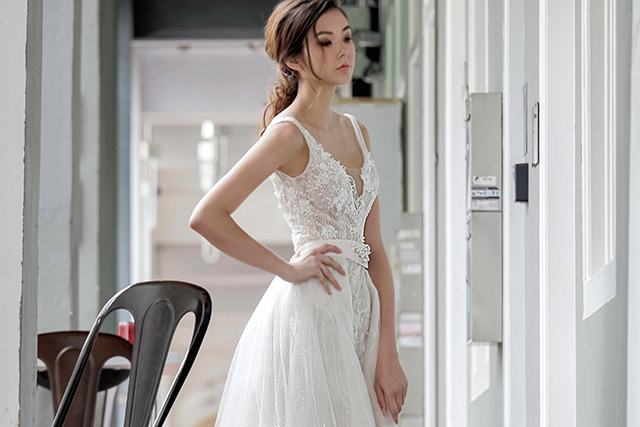 singapore mermaid wedding gown